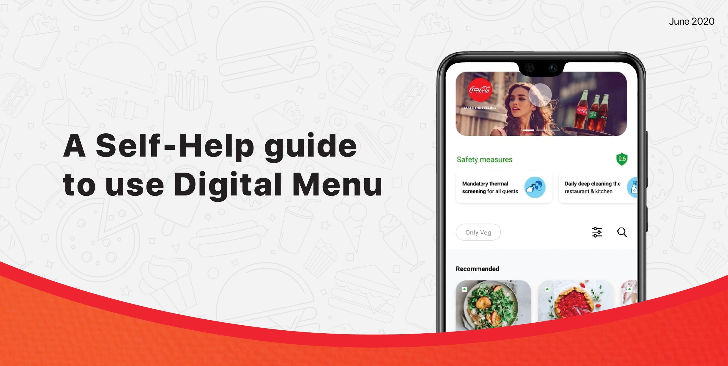 Self-Help Guide   Digital Menu